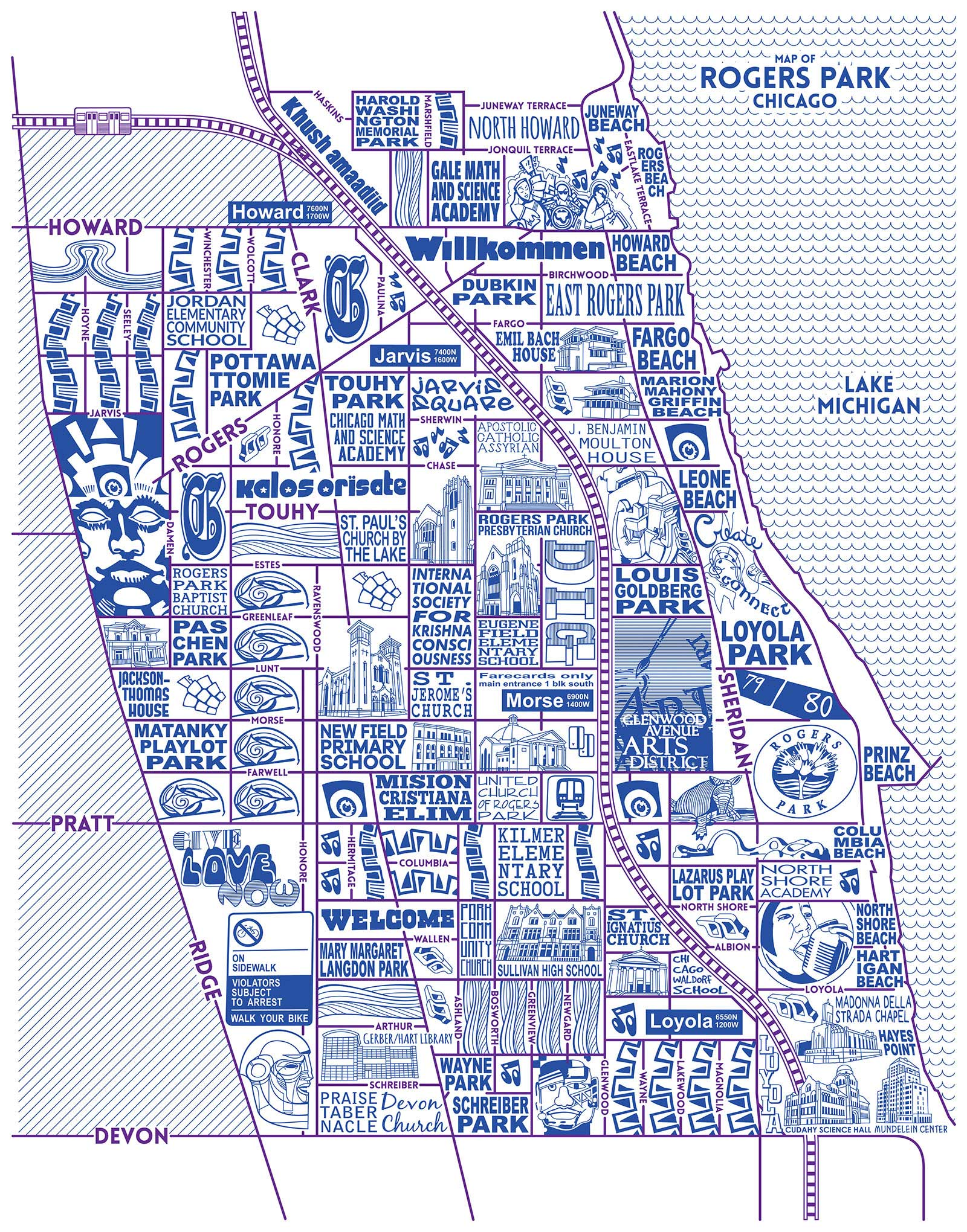 Rogers Park Map -  Purchase a map here