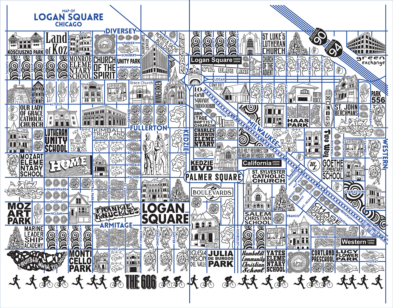 Logan Square Map -  Purchase a map here