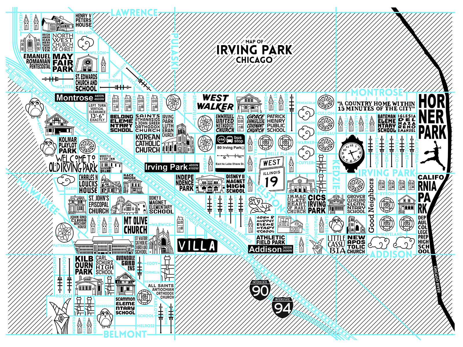 Irving Park Map -  Purchase a map here