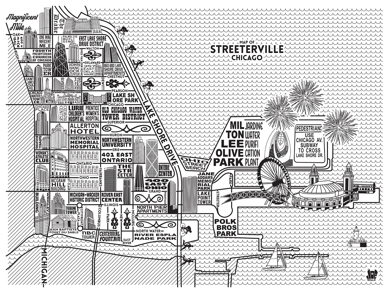Streeterville Map -  Purchase a map here