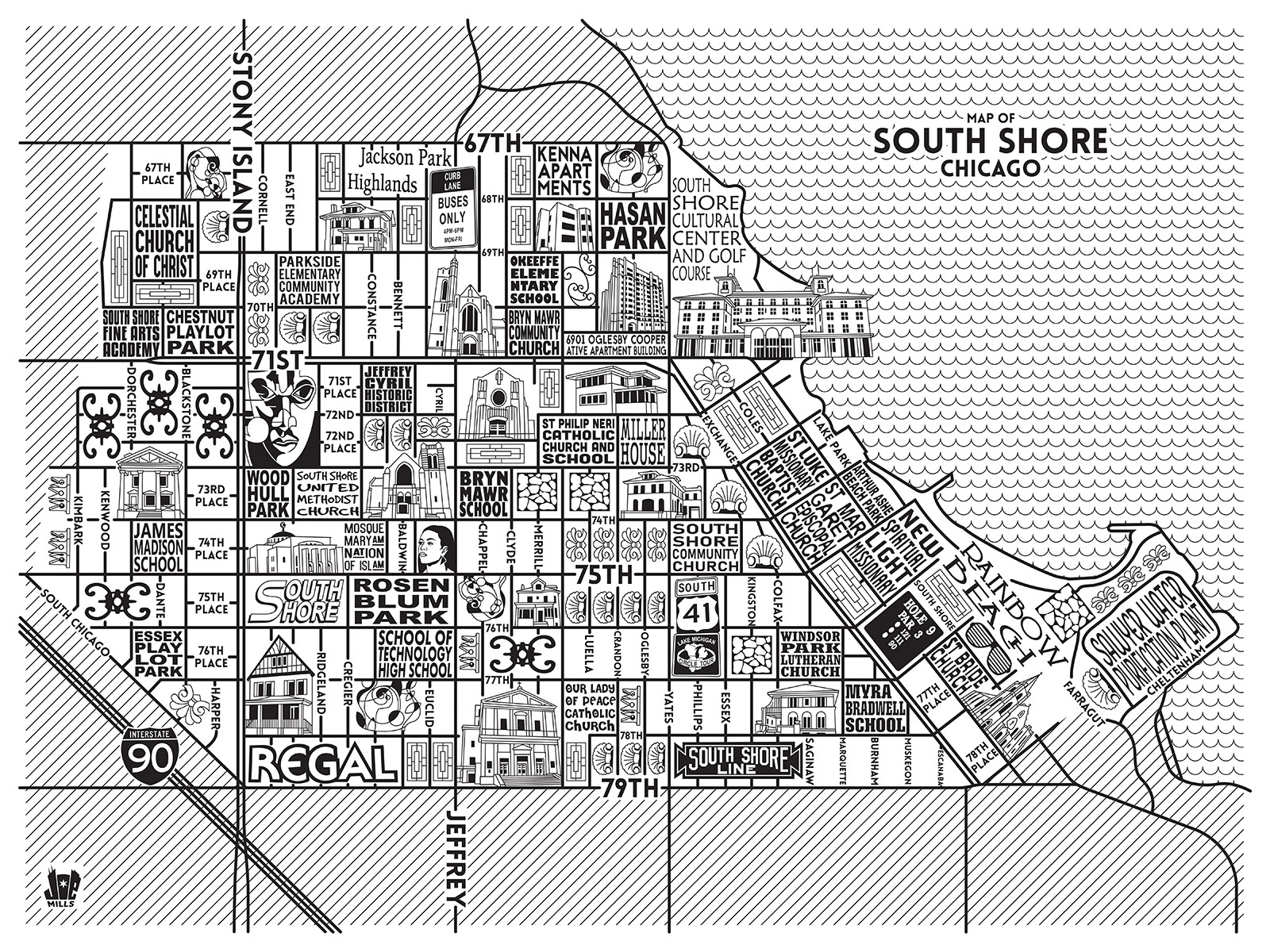 South Shore Map -  Purchase a map here