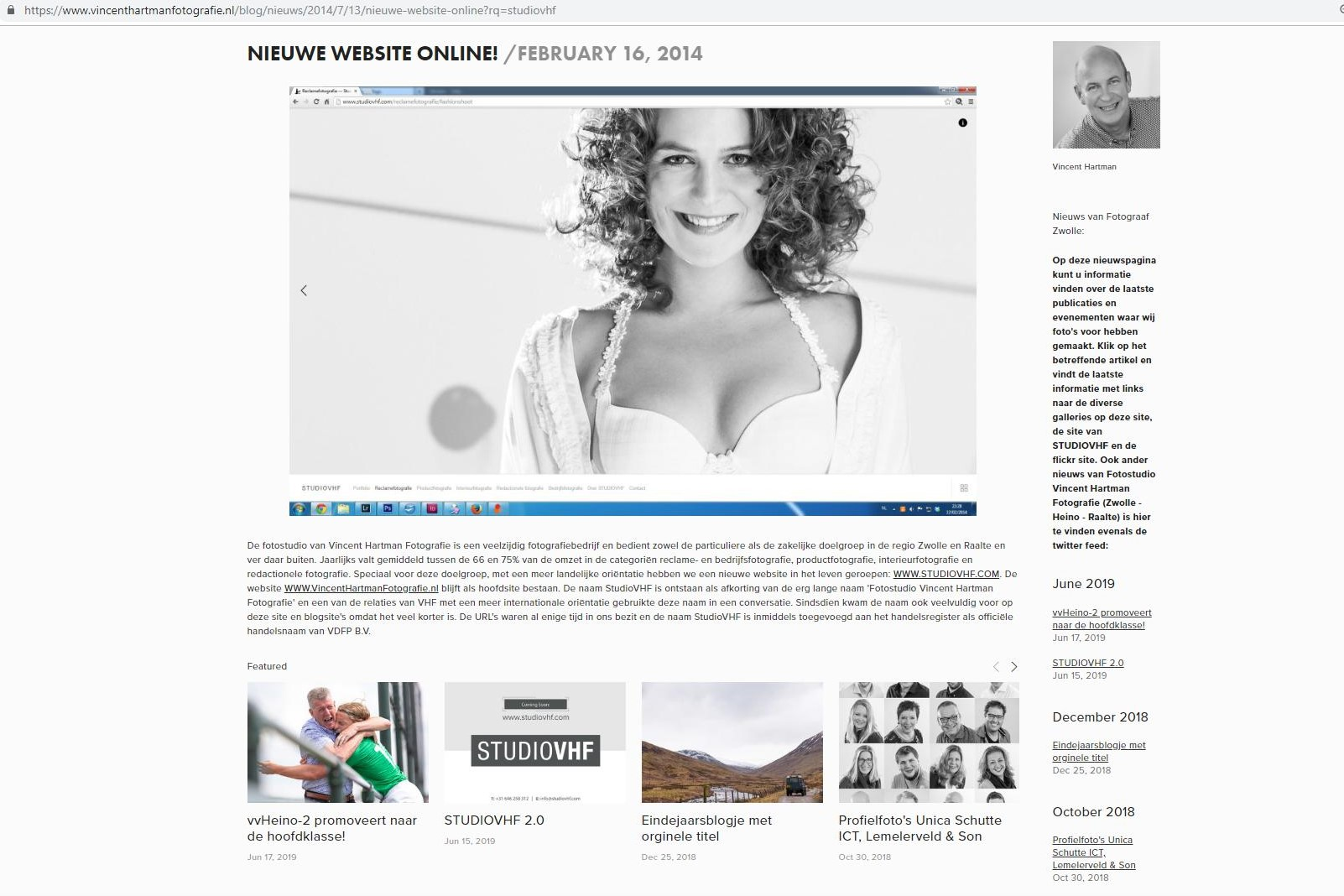 The split-up of private photography and commercial photography with a new website