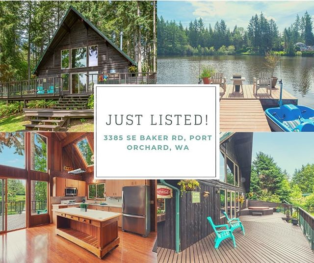 Just Listed in Port Orchard! *** I love this 3 bd 1 ba lakefront cabin on 1.77 acres.  It's the perfect weekend getaway or full time retreat! *** Listed by: Shannon Koshar,  The Saki Group *** Tag a friend who needs a lake house! * * * * #justlisted #portorchard #KitsapRealEstate #kitsapcounty #kitsaplife  #seattle #seattlerealestate #kitsaprealestateagent #seattlerealestateagent #thesakigroup #realestate #sellersagent