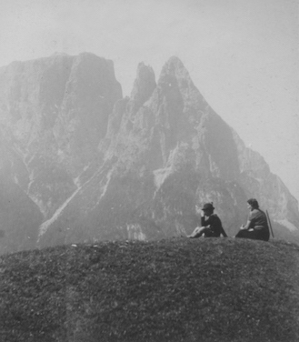 As a boy in the Dolomites