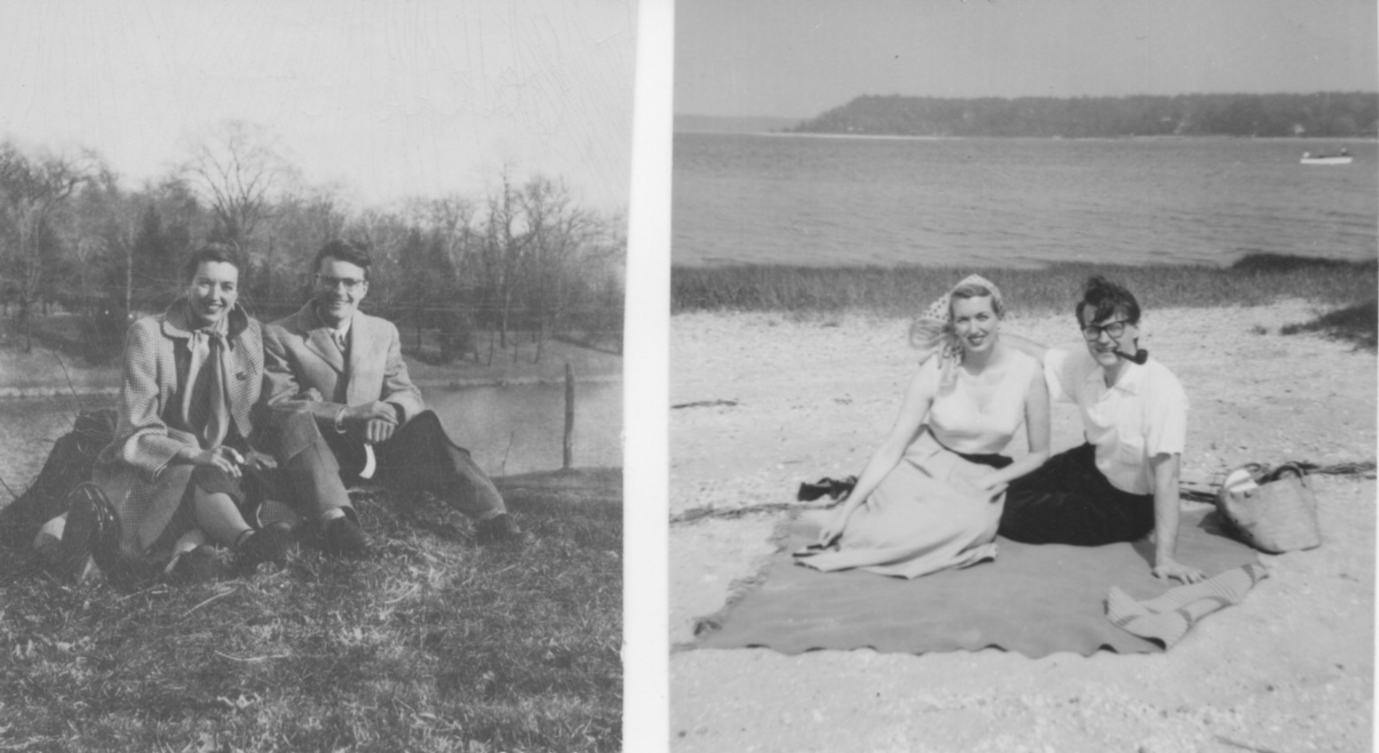 Josette and Imero when they first met in New York City, 1950(L) and visiting Maine in later years(R)