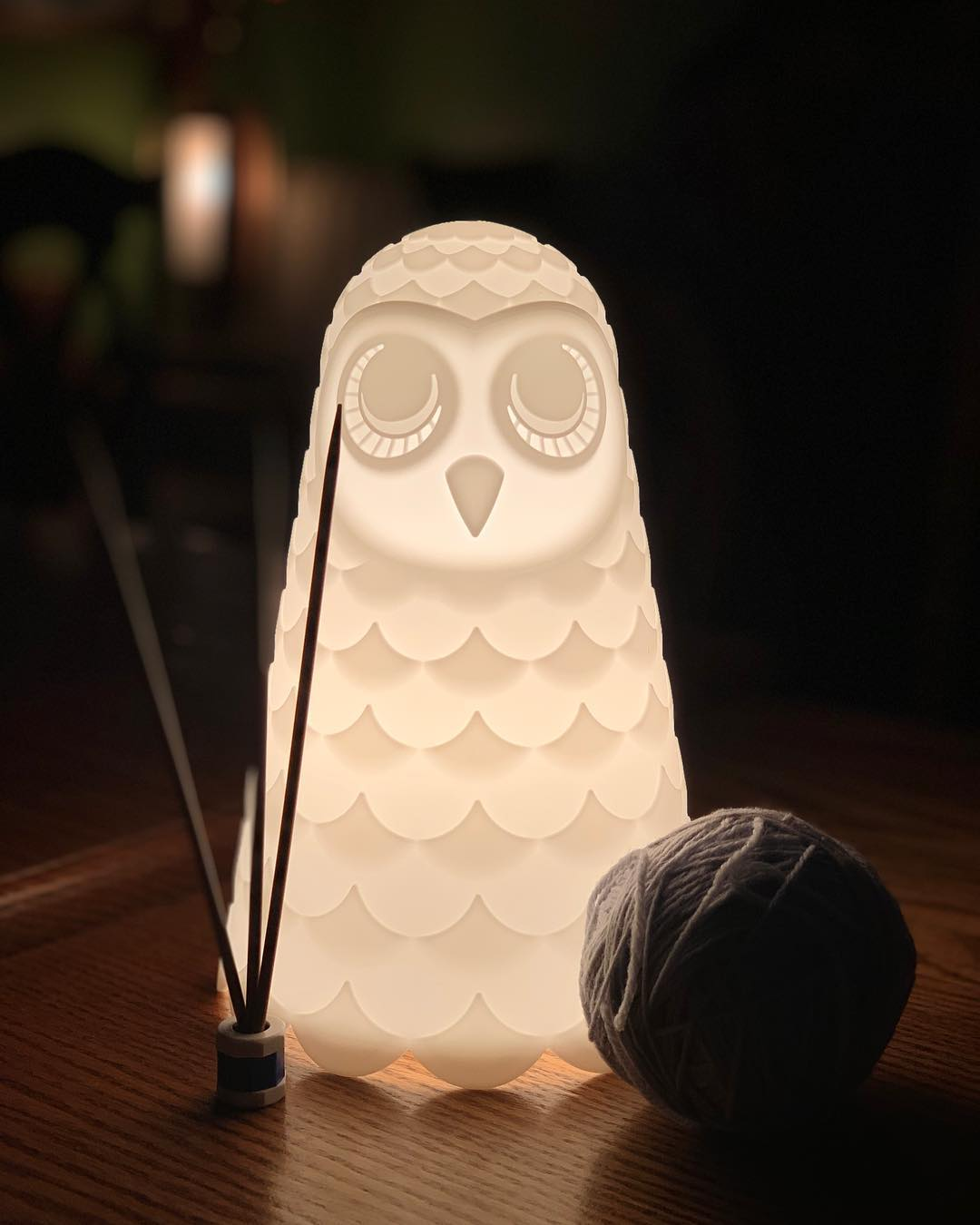 Find us at the back tables marked by the owl lamp.