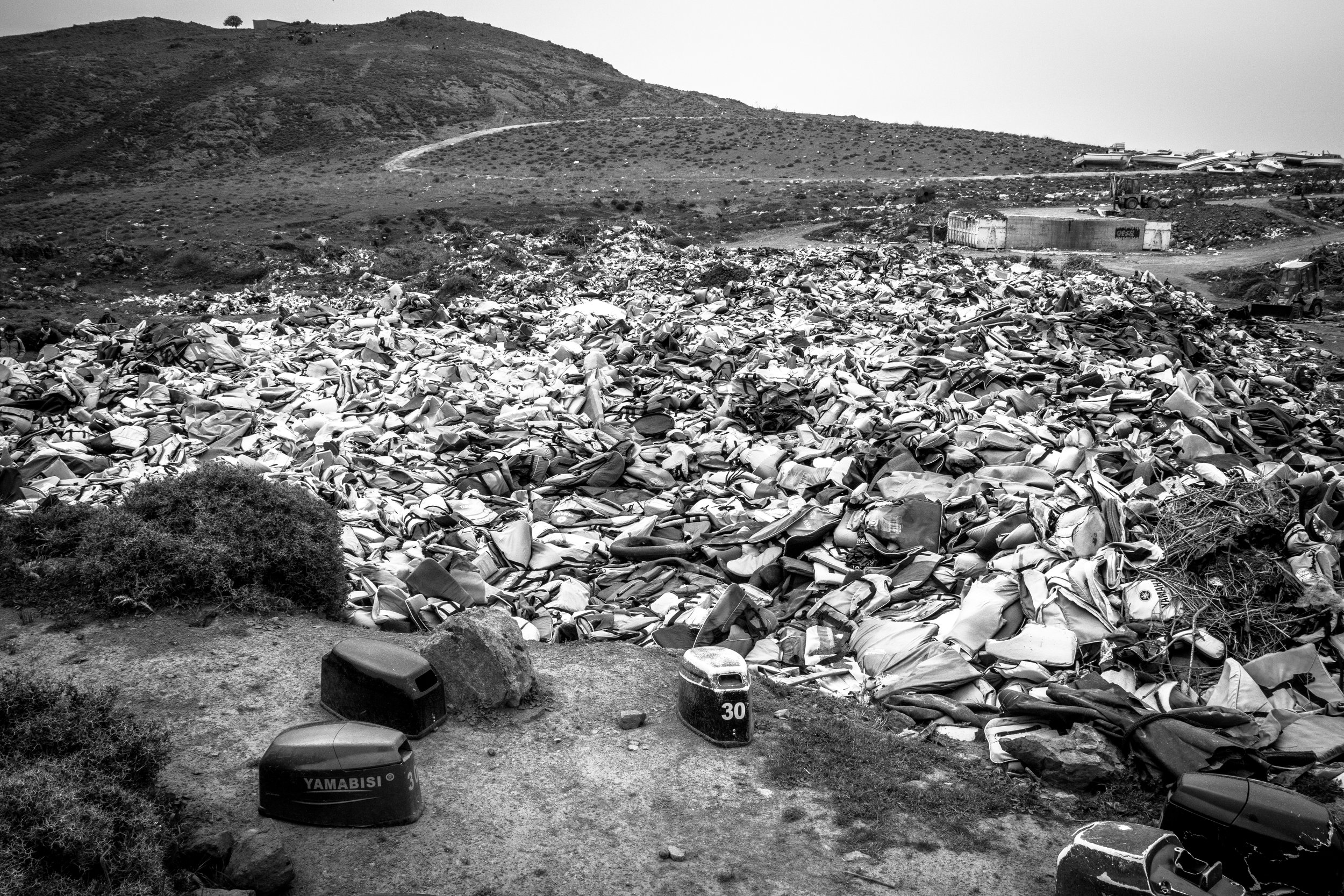 Life Jacket Graveyard, Molyvos, Lesvos, Greece