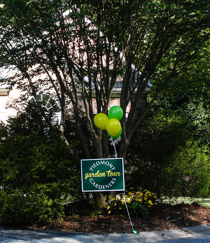 Piedmont Gardeners yard sign