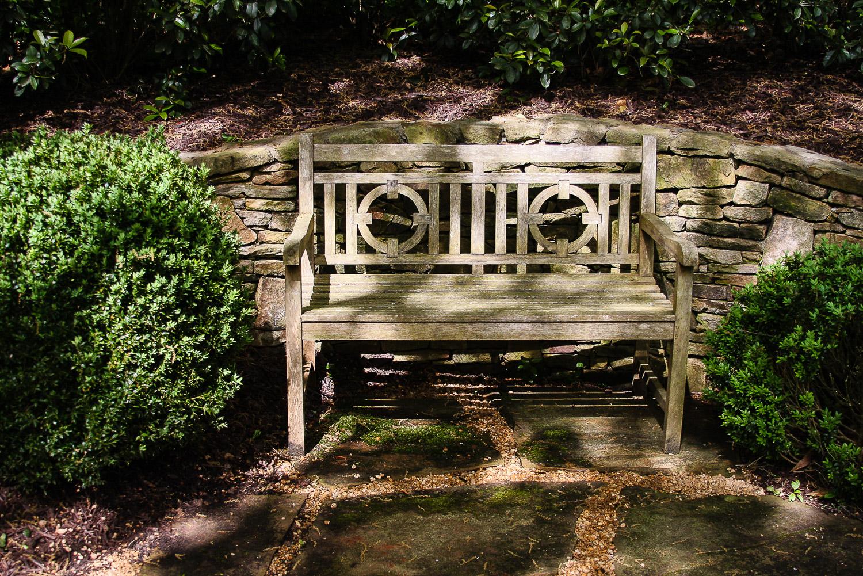 Elegant garden bench