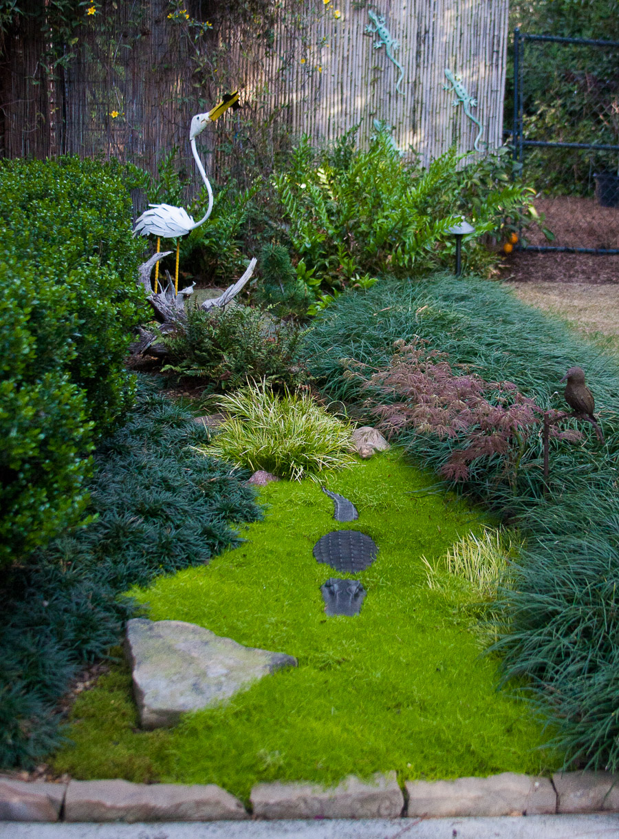 Johnston-garden-moss-with crane and alligator (1 of 1).jpg