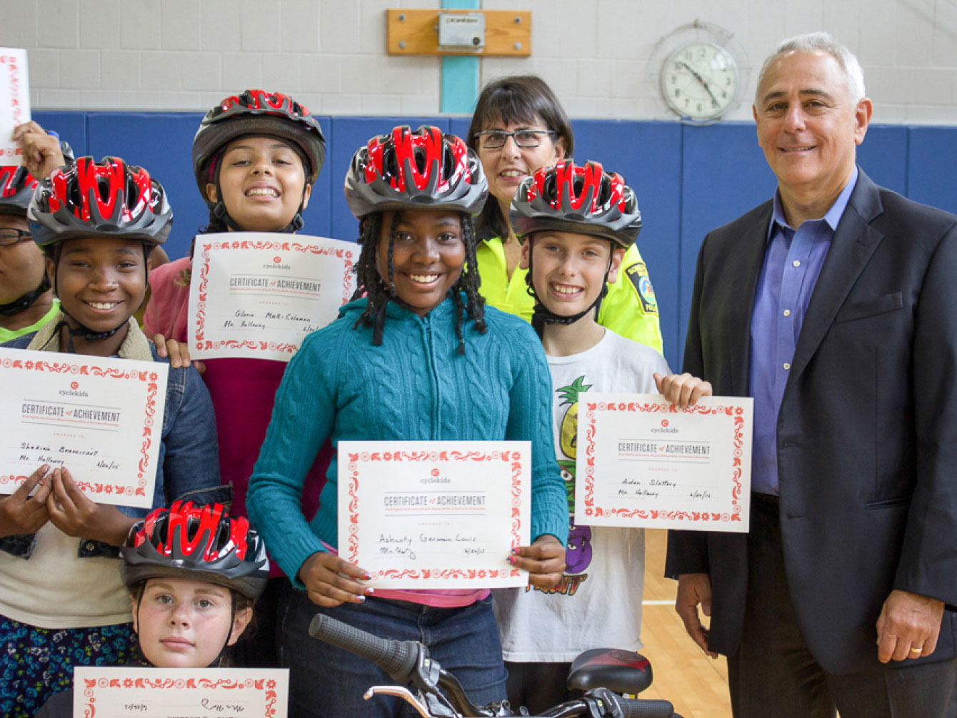 Graduates of the Somerville CYCLE Kids program  Every student leaves our program with a diploma in hand, a smile on their face, and skills to last them a lifetime!