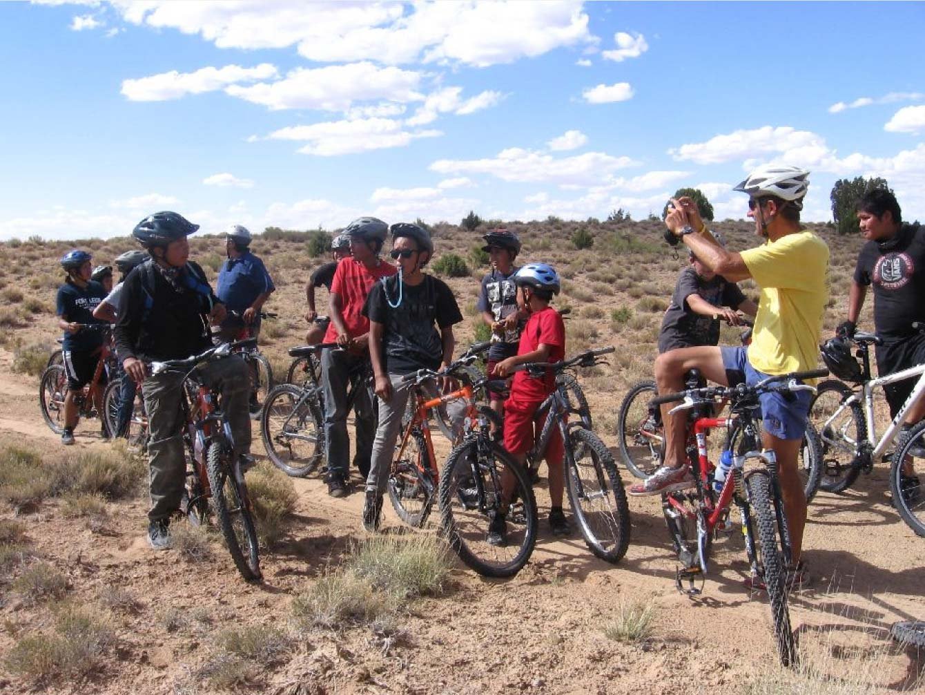 "Navajo ""CYCLE kids"" Biking in the Desert   With the support of NavajoYES! and the community, CYCLE Kids has a far-reaching impact beyond the classroom."