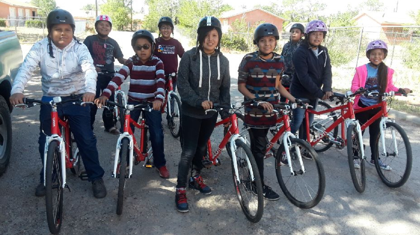 "Navajo ""Cycle Kids,"" ready to ride!"