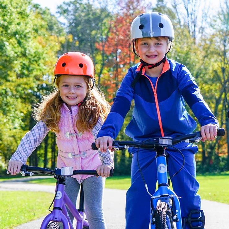 Buy a Bike or Helmet - Our bikes are designed with children of all ages in mind. And 5% of proceeds benefit CYCLE Kids!
