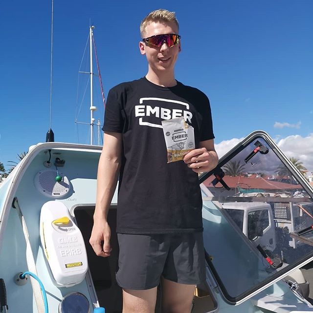 With various references to the 'snack pack' over the past 24 hours. Here is Jamie enjoying @embersnacks after a well earned mornings work on STORM. see some of the other items that might feature and we have chewy sweets (haribo etc) and a further chocolate bars joining us tomorrow from the HAC Dad's. Quite a lot as you can see! I'm sure we can find room for it! #oceanrowing #hyperionatlanticchallenge #snackpack #feedyourfire