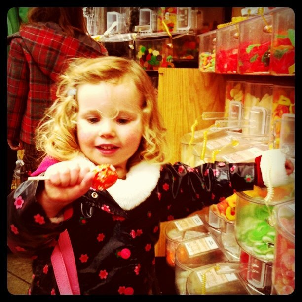 A kid in a candy store (Taken with  Instagram  at Central Market)