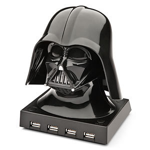 This USB port would also work.    Darth Vader USB Hub