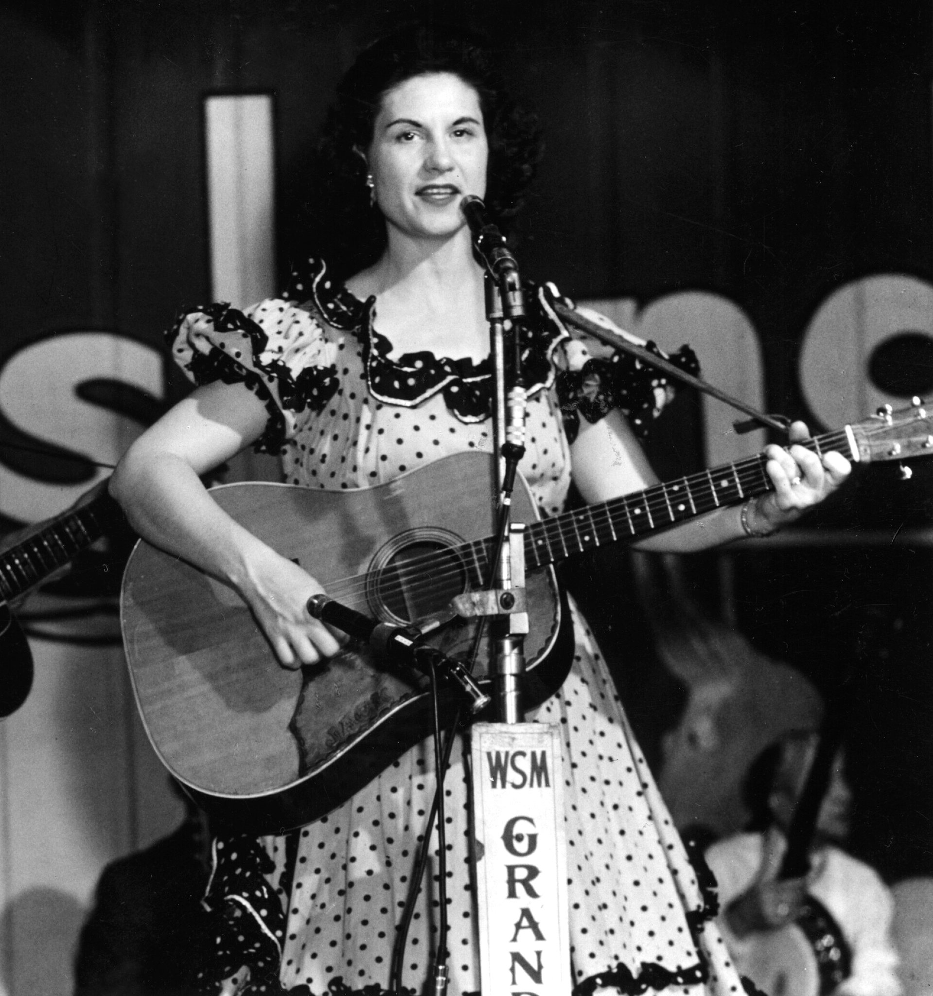 - Kitty Wells on stage at the Grand Ole Opry