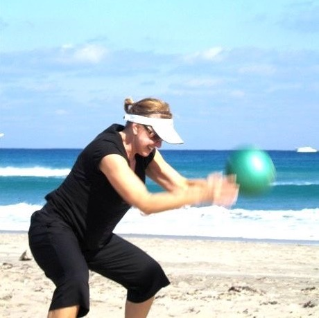HIIT session at the beach during private retreat.JPG