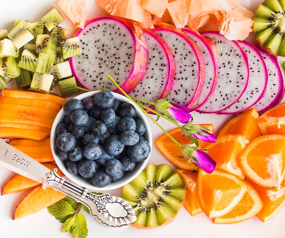 Colorful food like fruit and vegetables can clean up your diet.