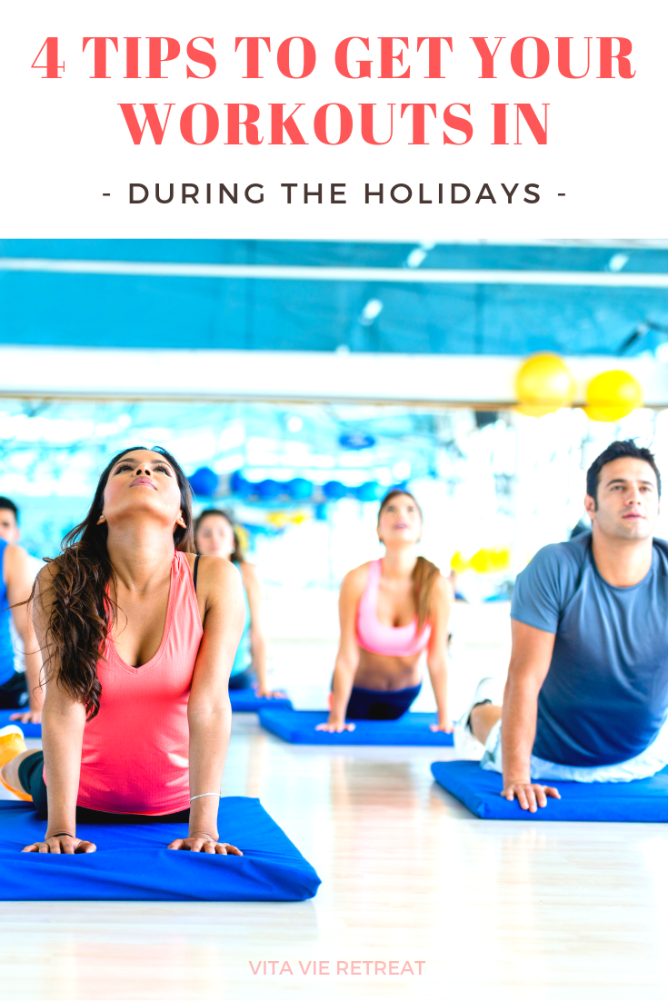 Clients participating in a new class as part of a way to get workouts in during the holidays.