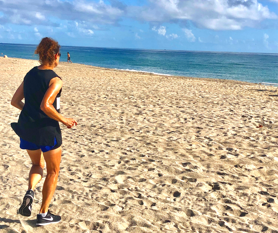 Working out on the beach to change up your fitness routine.