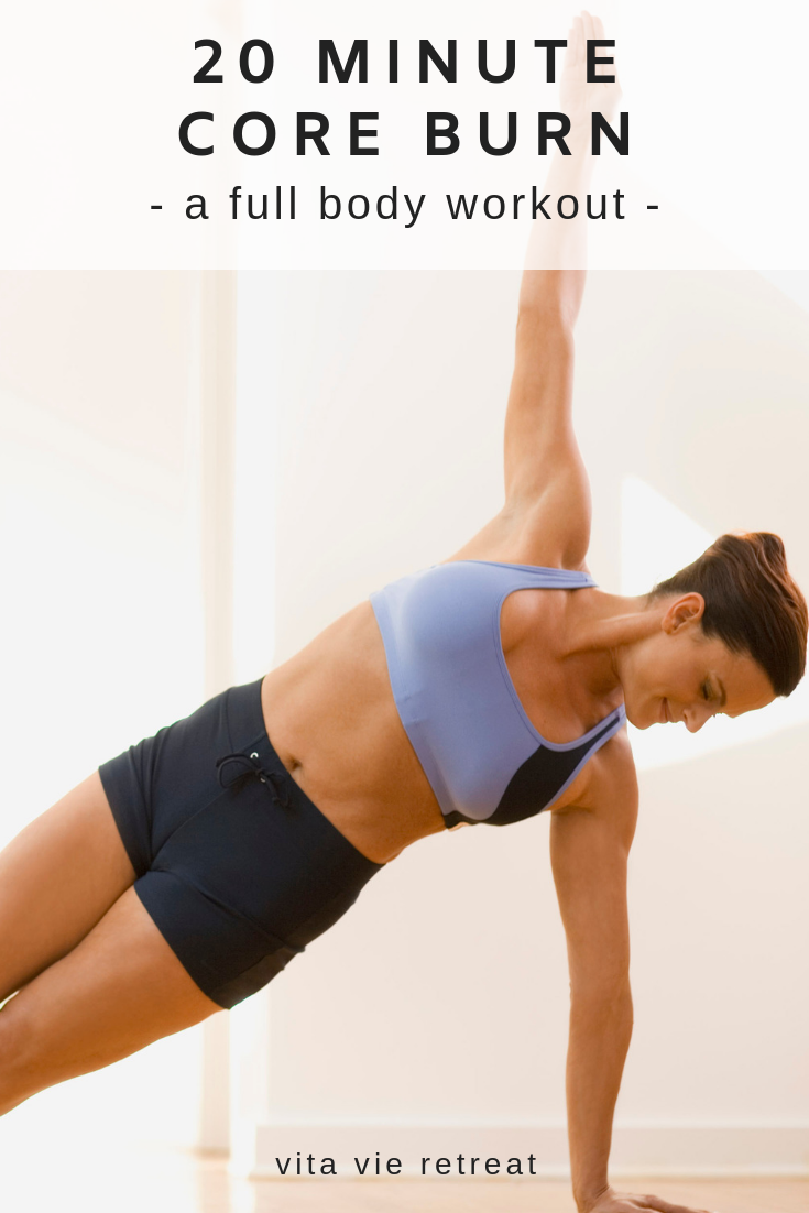 Woman working core in plank position.