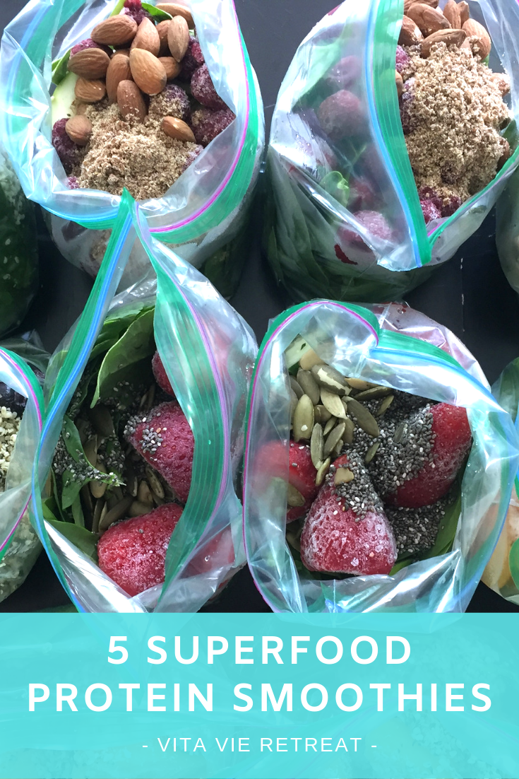 Smoothie bags are great to freeze and make when convenient.