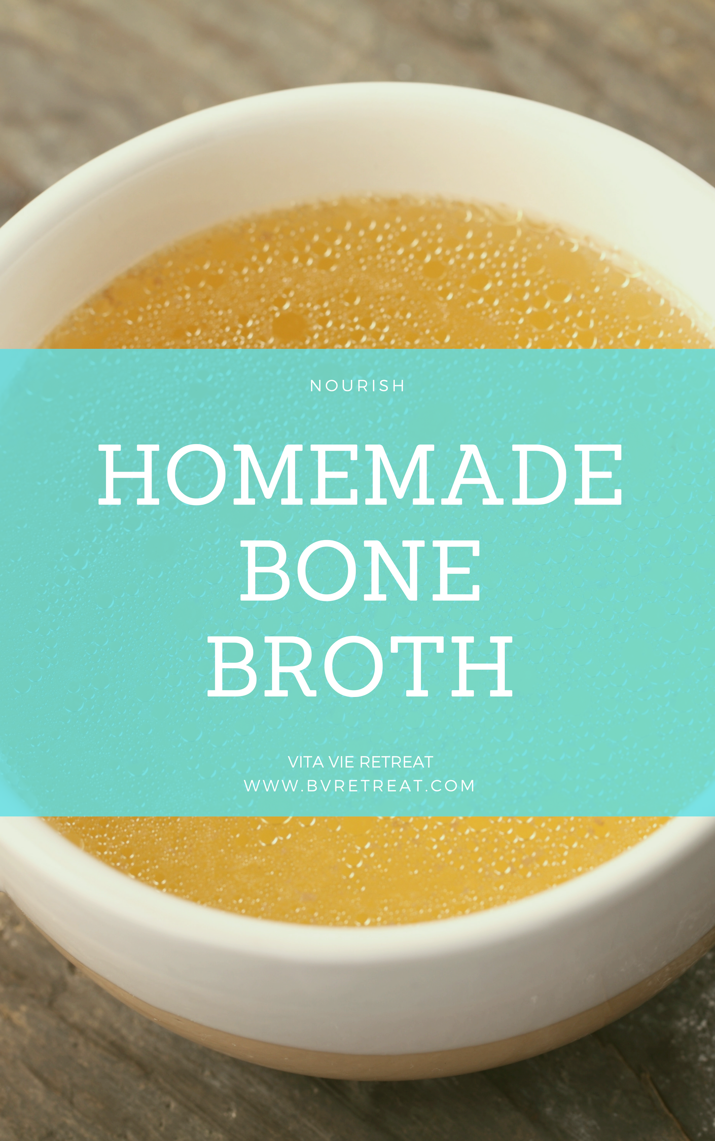 Bone broth recipe made from scratch.