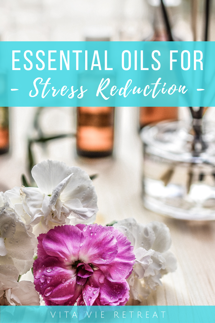 Essential oils being blended for stress reduction.