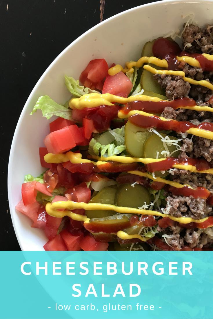 Low carb cheeseburger salad.
