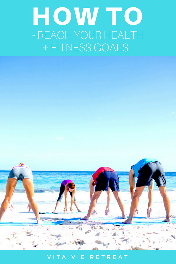 People working out to reach their health and fitness goals.