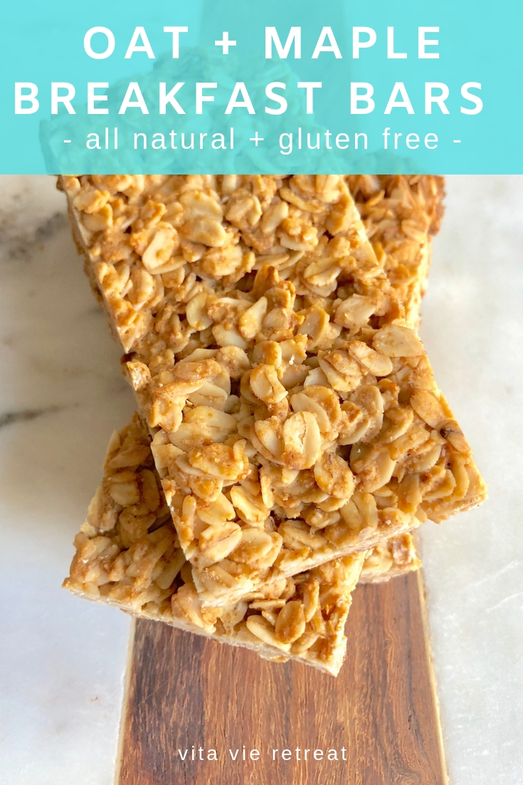 Gluten free oat maple breakfast bars.