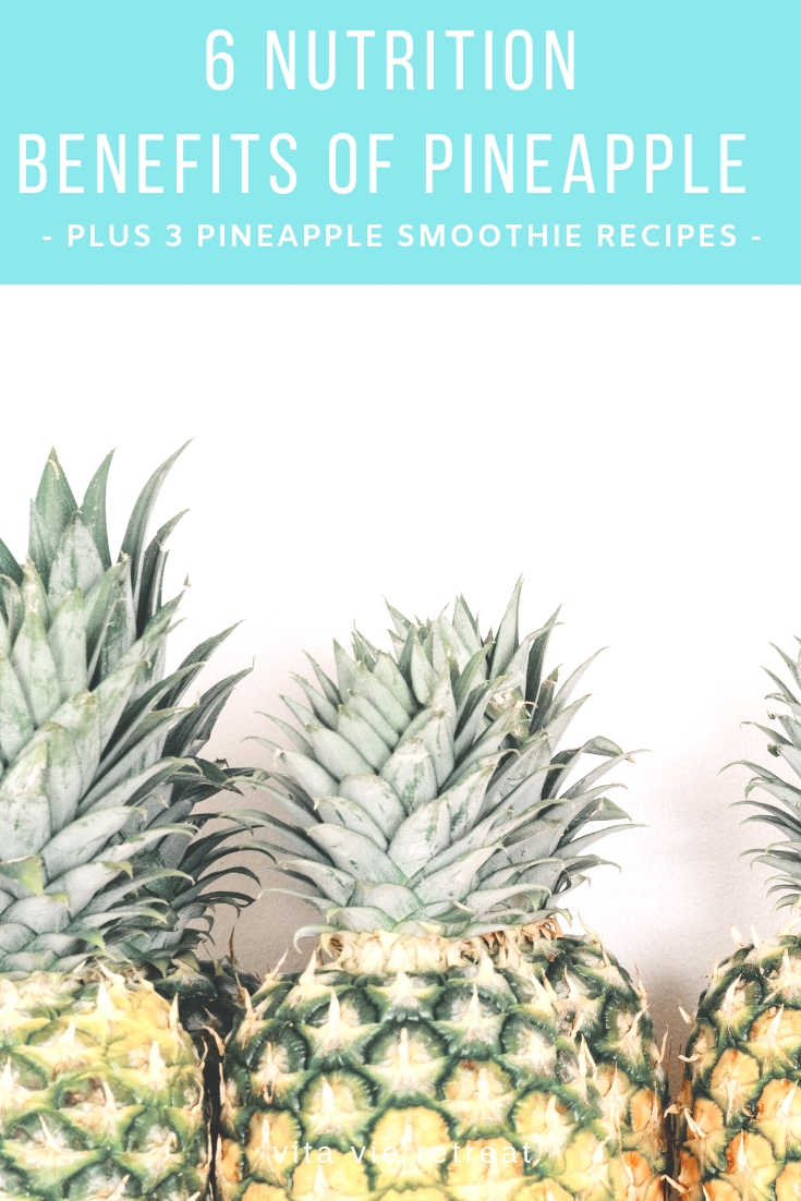 Pineapple has many nutrition benefits.