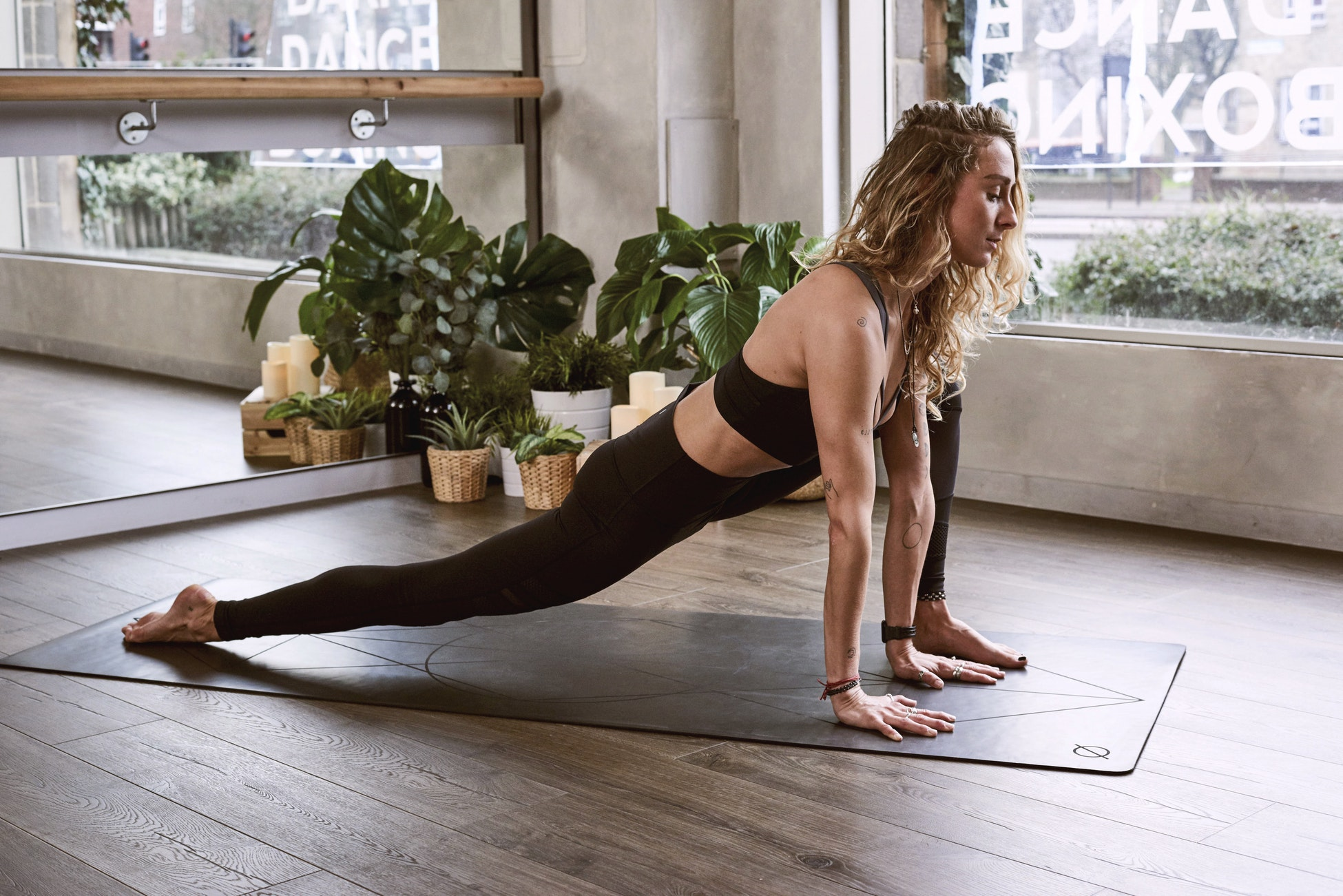 Woman recovering with yoga.