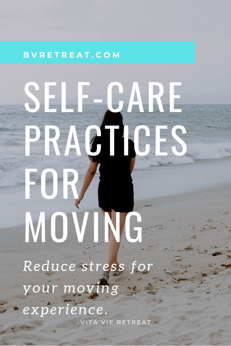 Walking for exercise self care during moving.