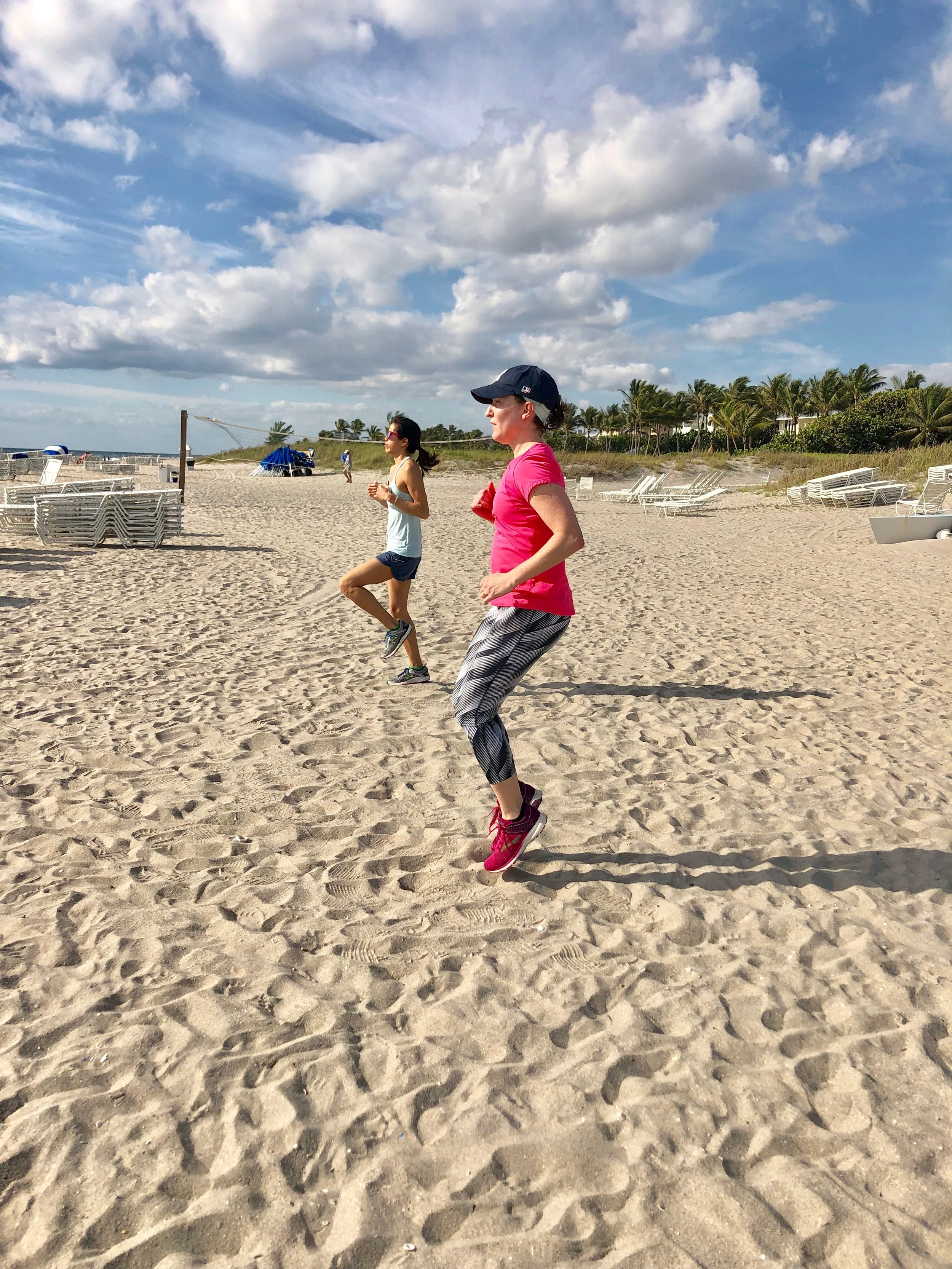 Boot camp speed run on the sand.