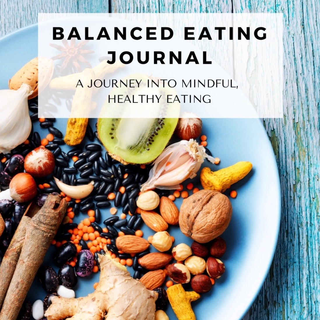 Weight loss and healthy eating journal.