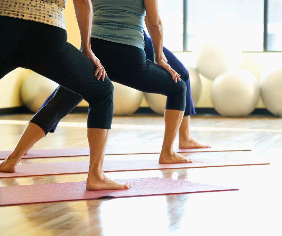Women exercising to lose weight.