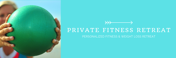 Private fitness retreat for stress reduction
