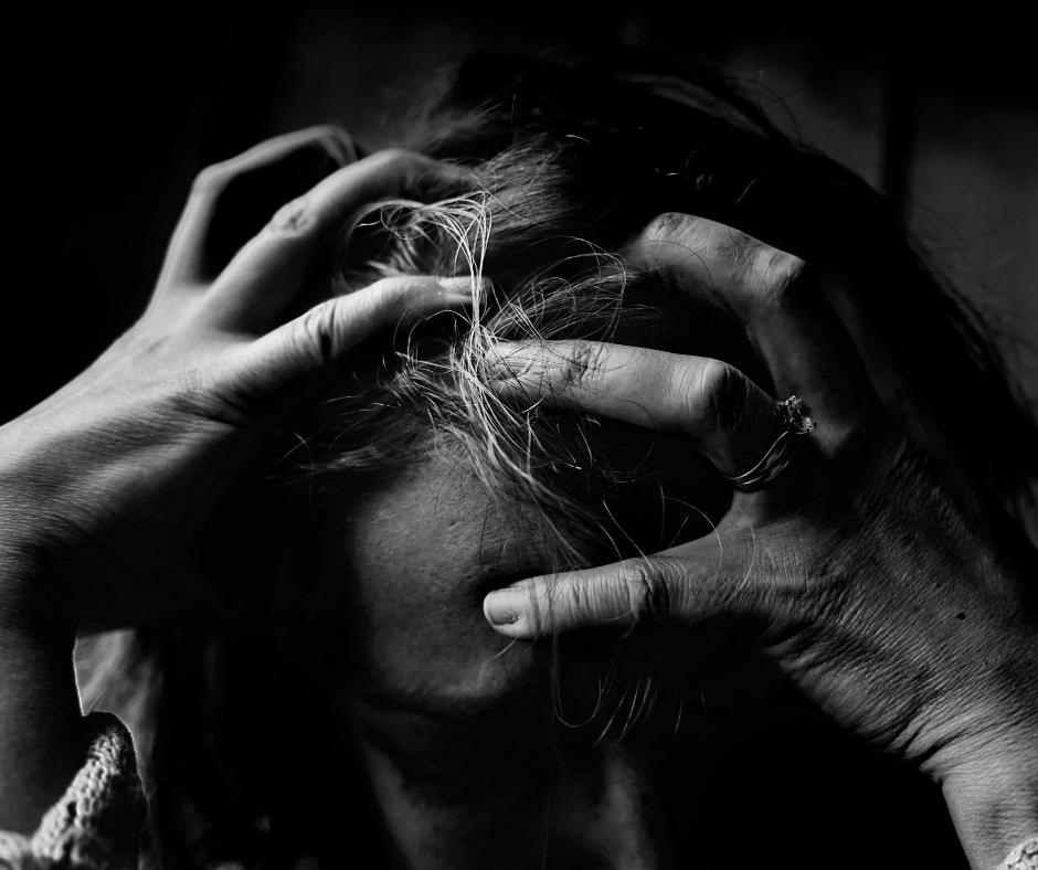 Woman feeling depressed