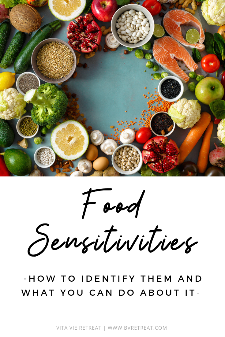A picture of foods that could cause sensitivities.