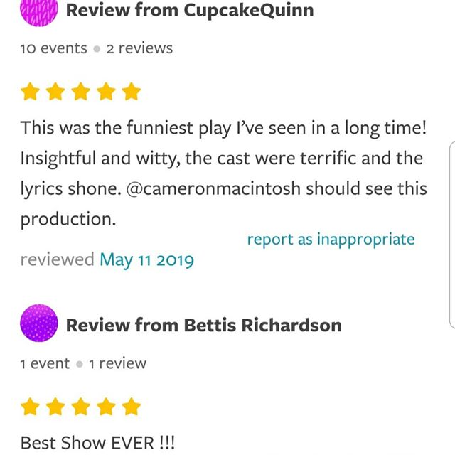 3 new reviews from @goldstarevents_ !!! Did you miss us?? Keep an eye out for us in the future! (Wink!) #lesmiserablesmusical #lesmizandfriends #LMAF #comedy #puppets #puppet #la #hollywood