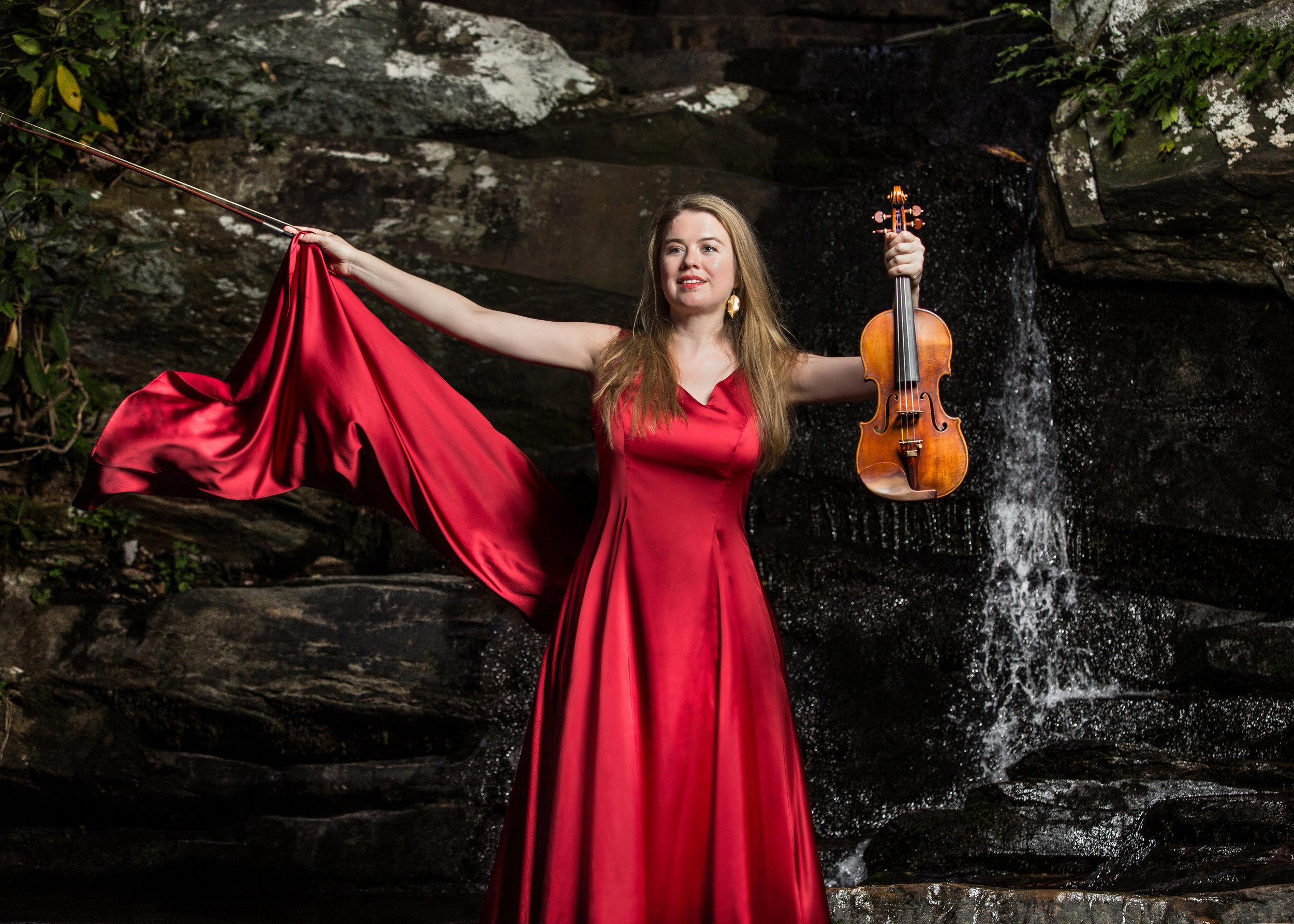 red dress waterfall please credit James Farley.jpg