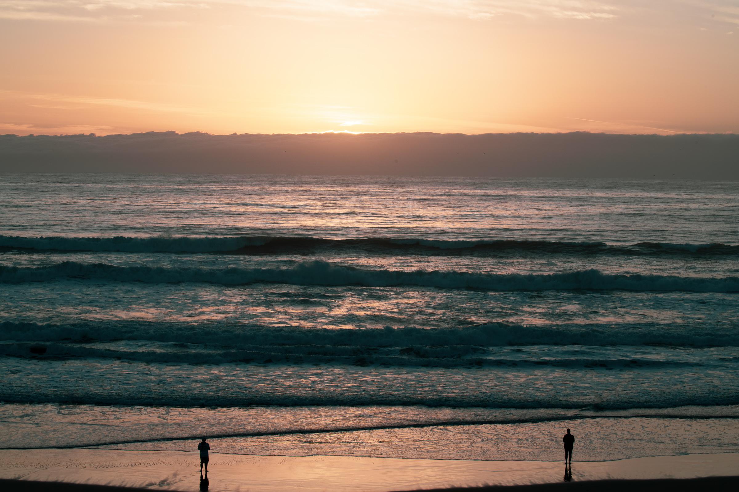 Sunset at Santa Cruz, CA