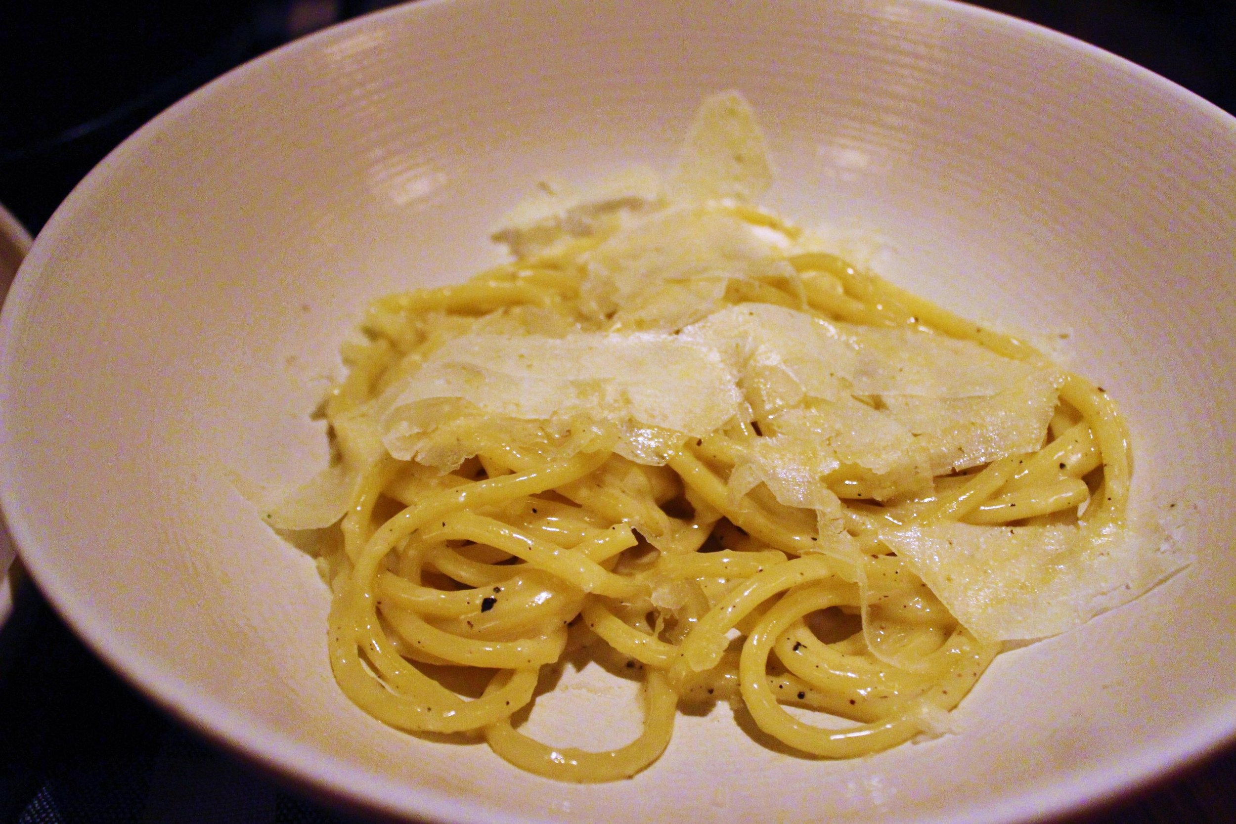 Bucatini Cacio e Pepe at Upland