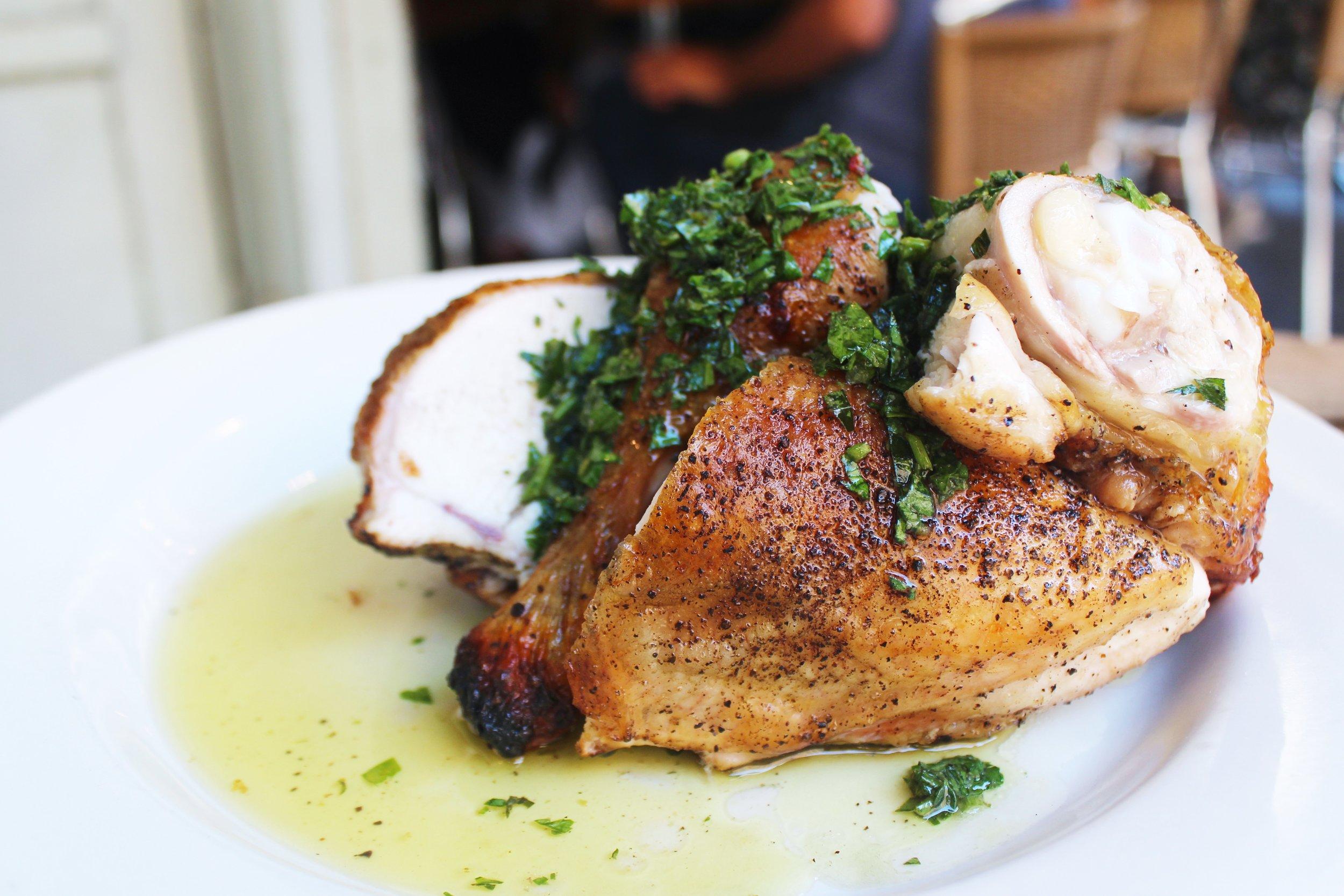 Pollo al forno at Barbuto