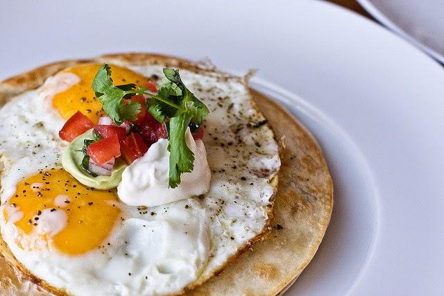 Huevos Monty with Avocado Crème Fraîche. Source:  Ayngelina
