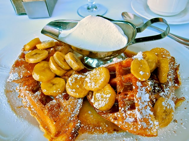 Bananas Foster Waffles. Edited. Source:  Mark Mitchell .
