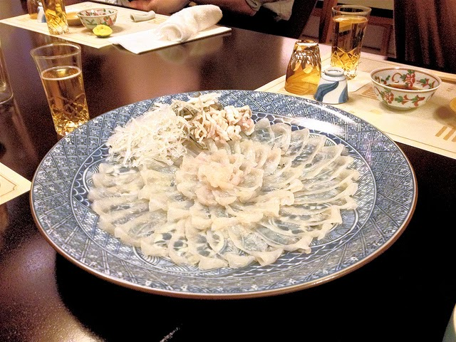 Sliced Fugu Fish. Source:  El Scrapeo